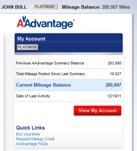 Aadvantage Summary